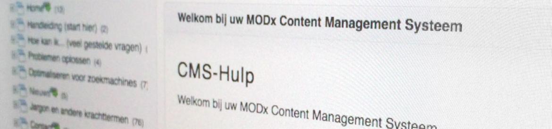 MODX handleiding: Handboek CMS website en content beheer