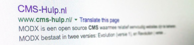 MODX SEO: Optimaliseren voor zoekmachines - CMS-Hulp