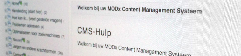 MODX CMS handleiding: Handboek CMS website en content beheer
