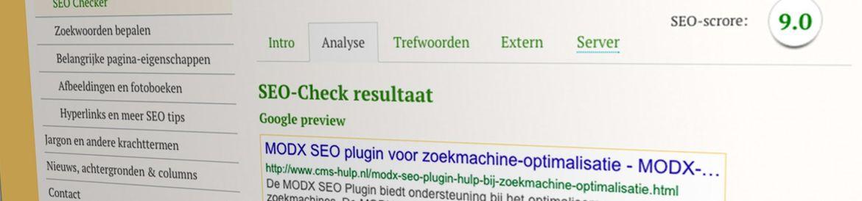 SEO Scan analyseert zoekmachine-optimalisatie - CMS-Hulp
